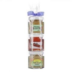 Senf Geschenk Rolle Geschenkrolle aus Senfen und Chili-Paprika Gelee